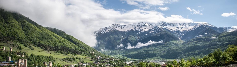 Svaneti regiono kraštovaizdis