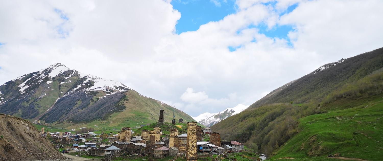 Svaneti regiono bokštai